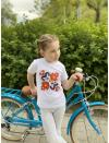 """Kid's T-shirt with printed embroidery pattern """"Love"""""""