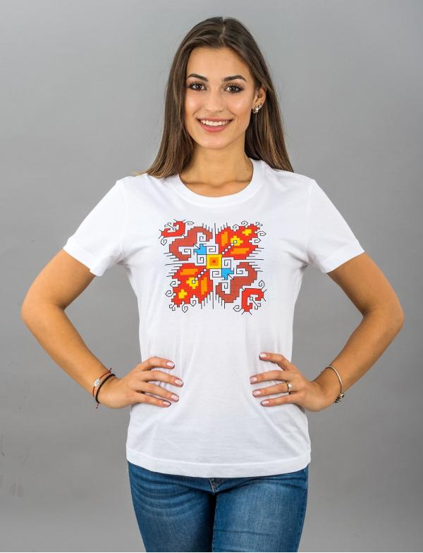 """Women's T-shirt with printed embroidery pattern """"Love"""""""