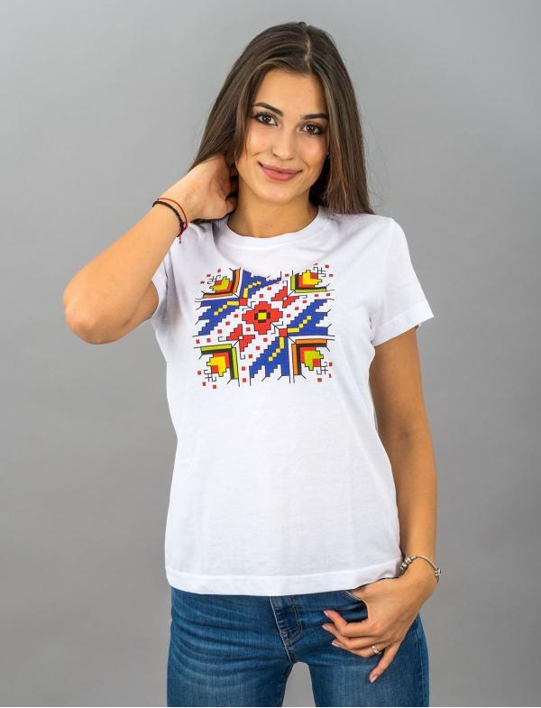"""Женская футболка со штампованной вышивкой """"Palm Sunday"""""""