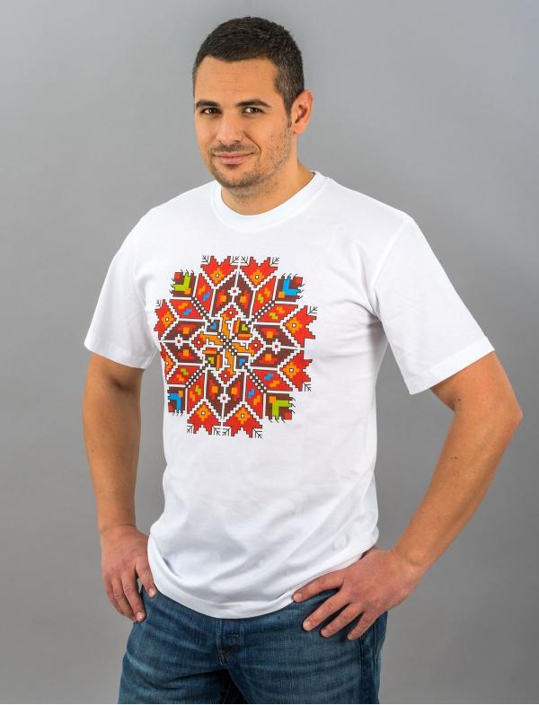 Мужская футболка со штампованной вышивкой «Звезда»
