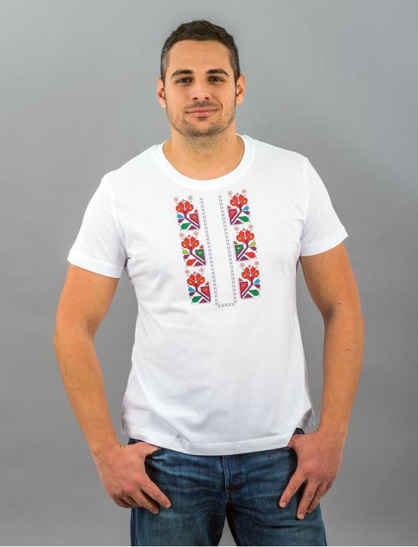 """Мъжка тениска с Шевица """"Душа"""""""