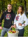 "Men's Hoodie with printed embroidery pattern ""Wedding"""