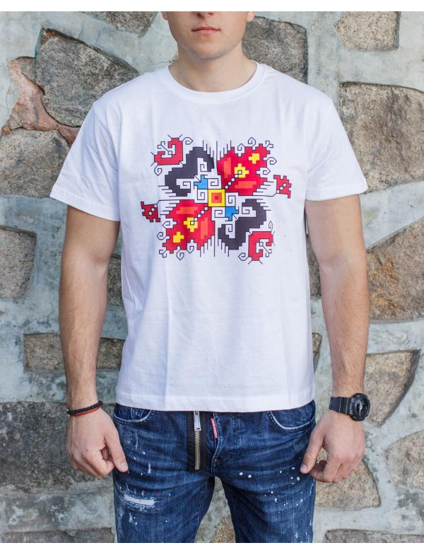 "Мen's T-shirt with printed embroidery pattern ""Love"""