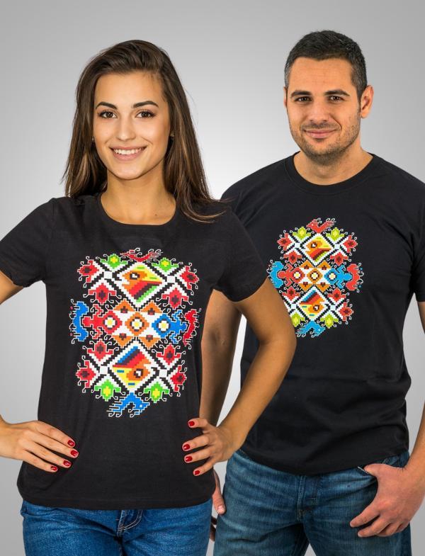 """Тениски за двама с цветна Шевица """"Сватба"""""""