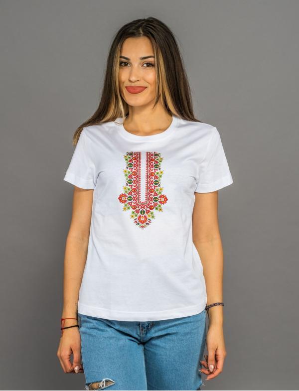 """Camiseta de mujer con bordado """"Protección"""""""
