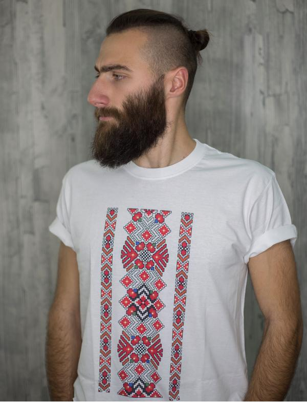 "Men's T-shirt with printed embroidery pattern ""Grace"""