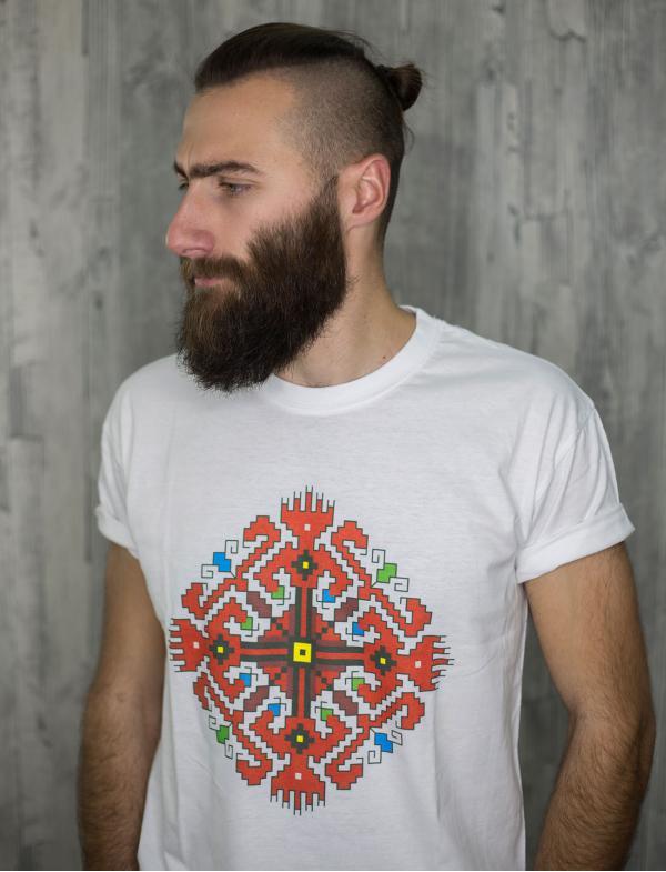 """Мъжка тениска с Шевица """"Пазител"""""""