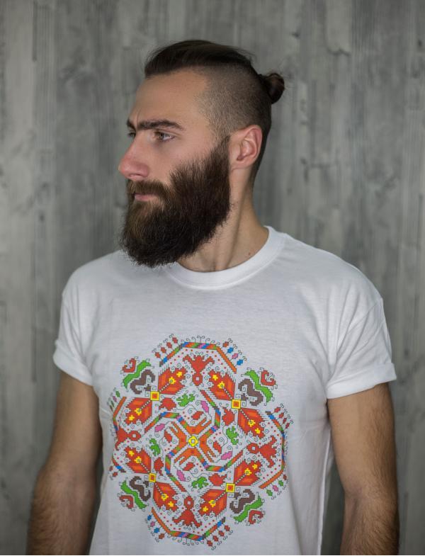 """Мъжка тениска с Шевица """"Щастие"""""""